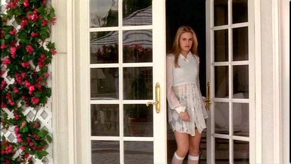 sheer skirt cher alicia silverstone flannel clueless 90s socks cuffs pastel