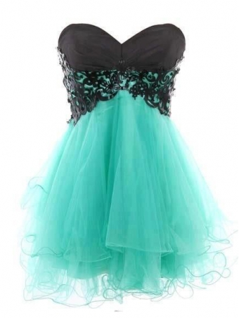 Fantastic Lace Ball Gown Sweetheart Mini Prom Dress [B002] - $159.99 : 24inshop
