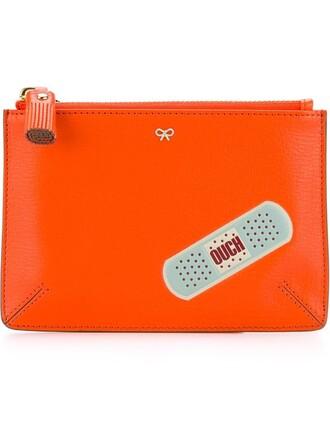 purse pouch yellow orange bag