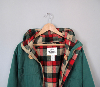 jacket clothes winter jacket winter sweater plaid jacket plaid forest green
