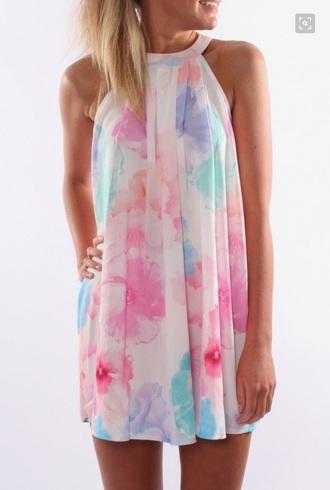 dress floral halter dress