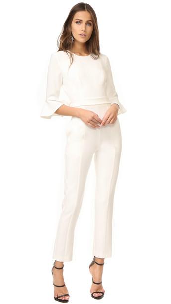 Black Halo Brooklyn Jumpsuit - White