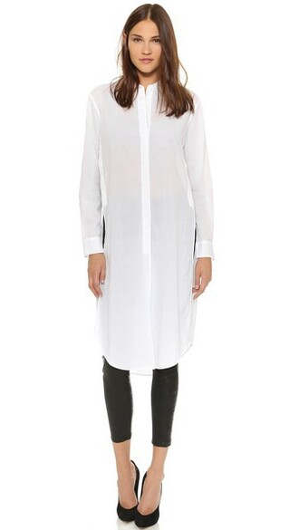 tunic white bright top