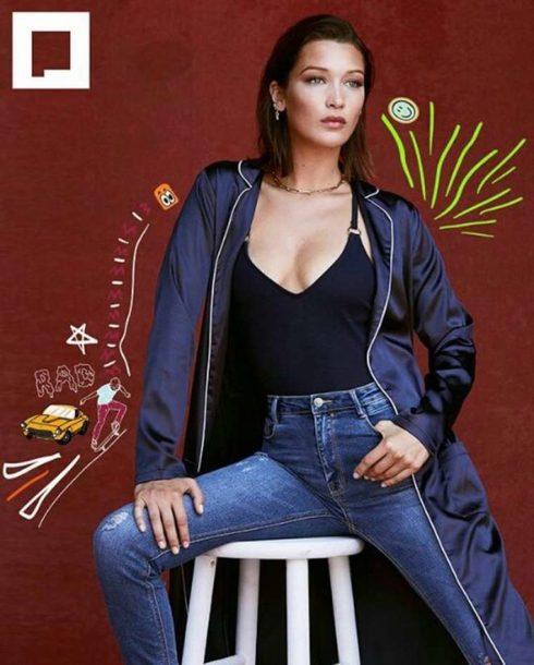 top jeans editorial bella hadid model