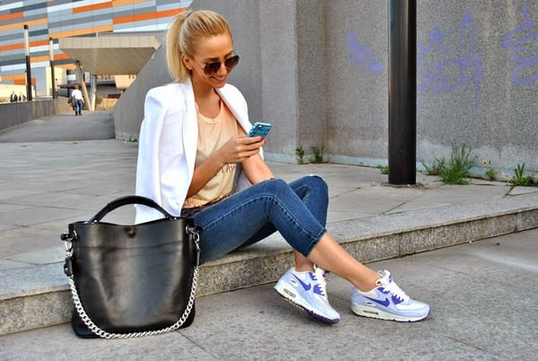 let's talk about fashion ! jacket t-shirt jeans bag shoes sunglasses