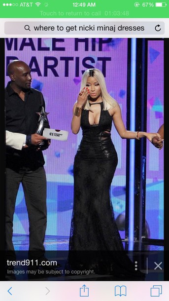 dress nicki minaj gown prom dress black dress