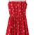 ROMWE | Panel Ballon Print Red Dress, The Latest Street Fashion