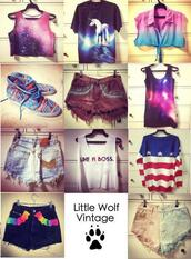 t-shirt,shorts,tank top,american flag,galaxy print,aztec,shoes,bag