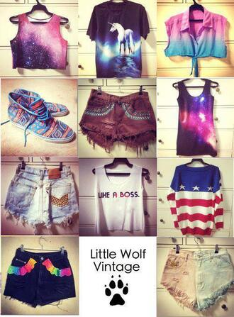 t-shirt shorts tank top american flag galaxy print aztec shoes bag