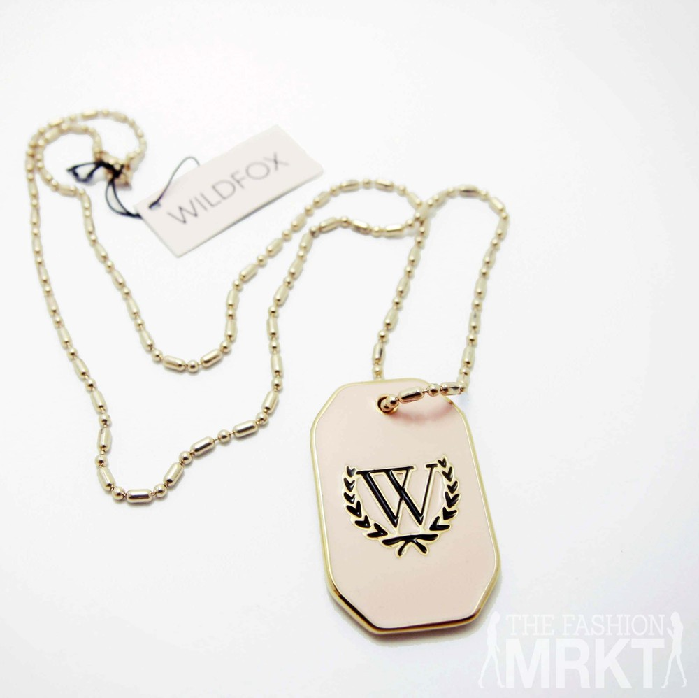 Wildfox Couture Pink Dog Tag Necklace / TheFashionMRKT