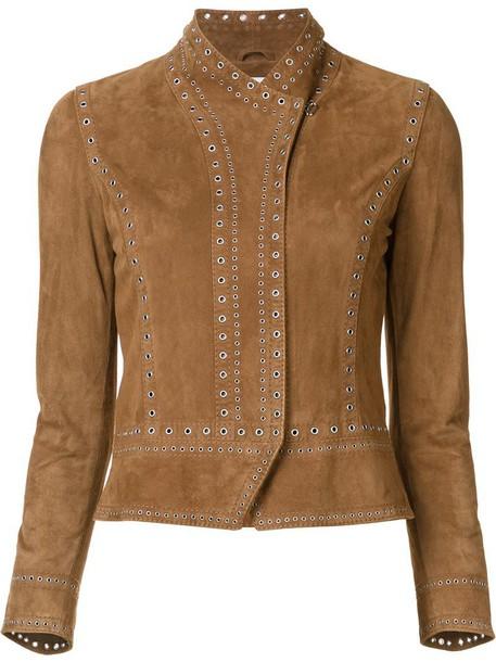 DEREK LAM 10 CROSBY jacket women suede brown