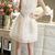 Women's Sleeveless Lace Puffy Dress