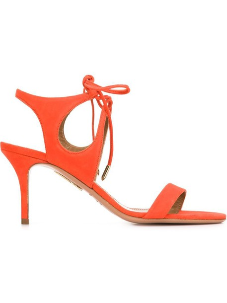 Aquazzura sandals yellow orange shoes