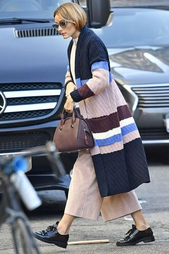 cardigan pants olivia palermo blogger streetstyle fall outfits shoes