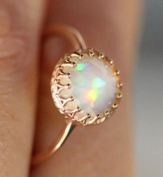 jewels ring opal gold pretty