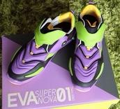 shoes,evangelion,neon genesis evangelion,eva-1,sneakers,sportswear