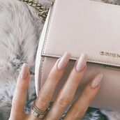 nail polish,nude,pink,manicure,long nails,kylie jenner,baby pink,jewels,jewelry,kylie jenner jewelry,ring,ring stack,rings and tings,bling