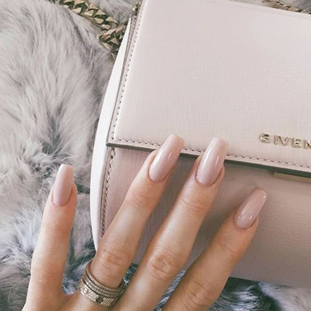 nail polish, nude, pink, manicure, long nails, kylie jenner, baby ...