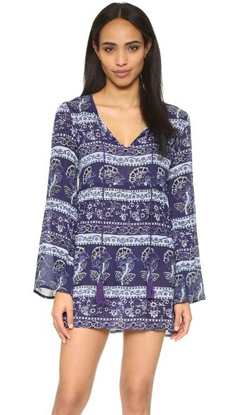 tunic navy violet top