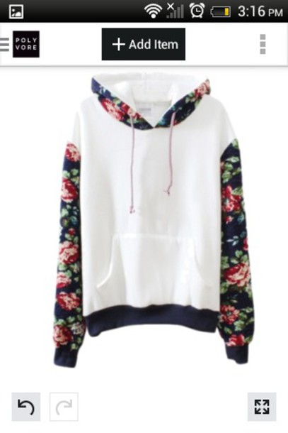 sweater jacket flowers fashion style floral white cotton coat white top floral shirt warm sweater black pink red sports sweater floral hoodie floral sweatshirt bernard lafond hooded sweatshirt hooded sweater floral floral sweater hoodie swearshirt white sweater white with floral top amazing instagram pinterest cool flowers raglan jumper cute kawaii girly casual fall outfits warm cozy winter outfits pullover long sleeves trendy Floral Printed Long Sleeve Hooded Pullover Sweatshirt harajuku girl girly wishlist