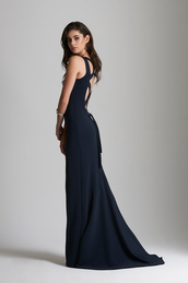 dress,navy gown,laced up back,formal gown,backless gown,Eve Vardar,navy,navy dress,long navy prom dresses,formal dress,long dress,long train dress,bridesmaid,long bridesmaid dress,lace dress,red carpet celebrity dresses,sweetheart formal gowns,backless,backless prom dress