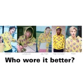 jacket,comment,hoodie,K-pop,jungkook,vernon,jay park,mark tuan,bts,odd future,donut,shirt,pants,korean fashion,tyler the creator,cute,jeans,pattern,shorts,crop tops,jumper,high heels,hip hop,streetwear,streetstyle,bts rap monster,rapmon,kookie,kpop,yellow