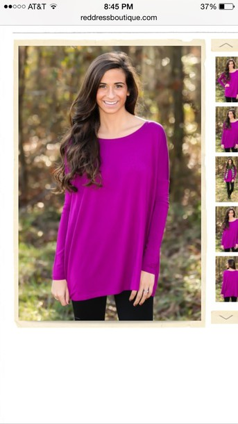 blouse berry fuschia