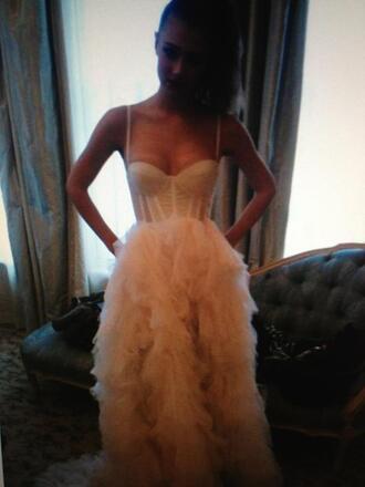 dress ball gown dress long dress prom dress evening dress gown long gown straps bustier ruffle