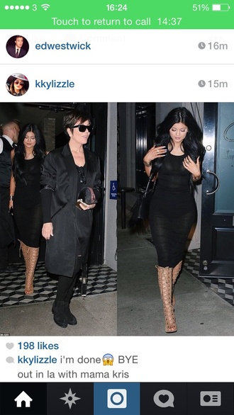 dress black midi dress sleeveless dress kylie jenner dress