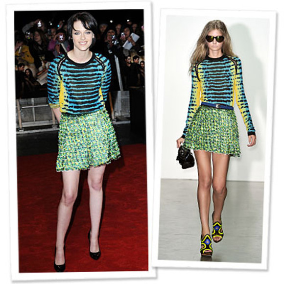 kristen stewart proenza color tweed