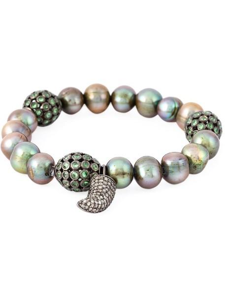 Loree Rodkin women pearl gold white grey metallic jewels