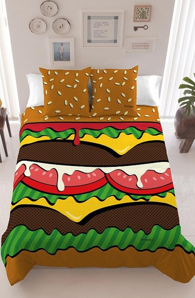 hamburger pillow cozy bag bedding