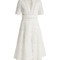 Meridian broderie-anglaise cotton dress