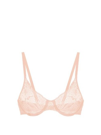 bra lace light pink light pink underwear