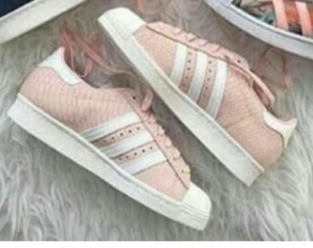 shoes light peach adidas adidas superstars