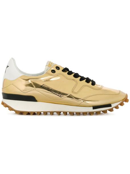 GOLDEN GOOSE DELUXE BRAND women sneakers leather grey metallic shoes