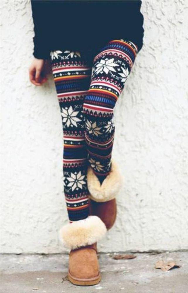 Cute colorful warmer leggings