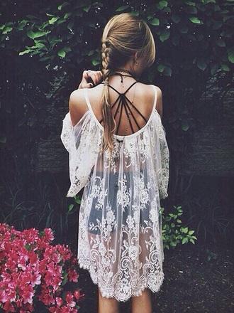 dress lace dress white dress floral dress transparent dress earthy