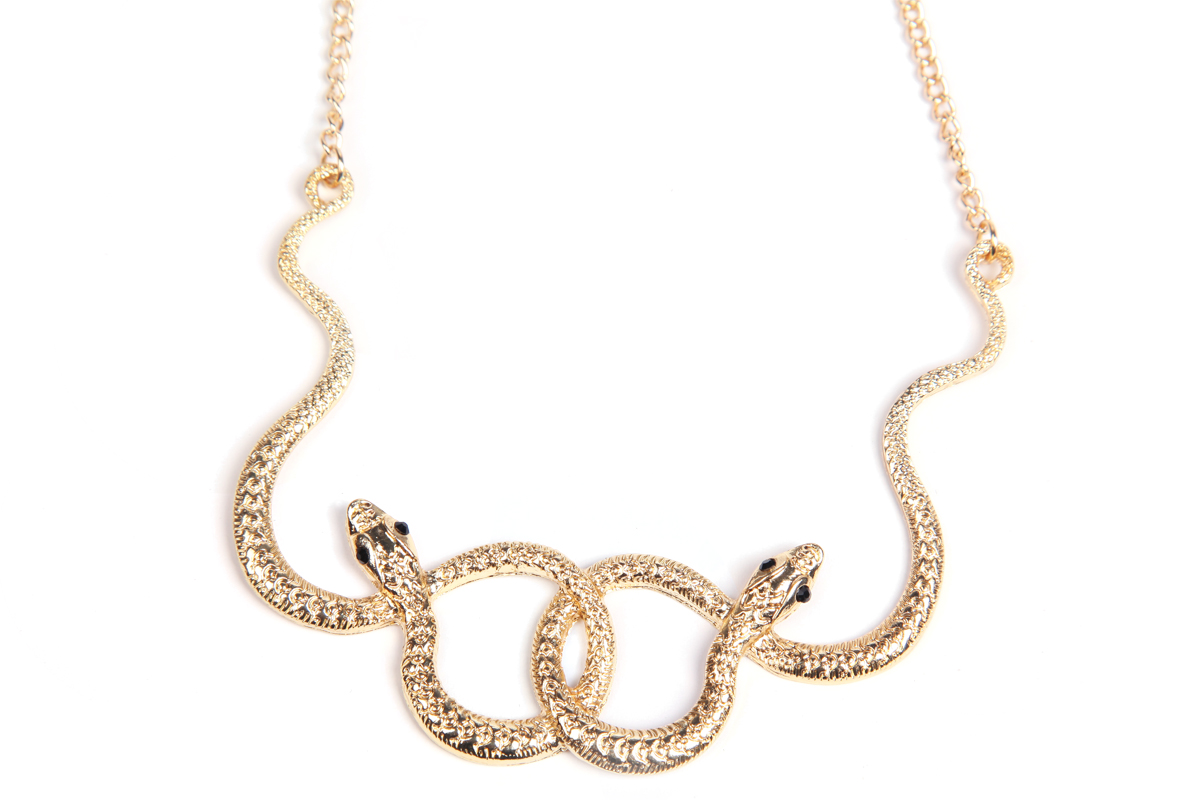 Concise Gold Twined Snake Necklace - Sheinside.com