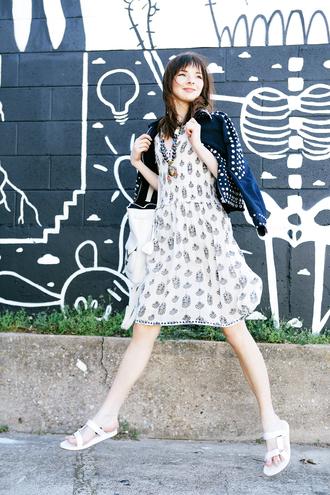 sea of shoes blogger bag jewels jacket