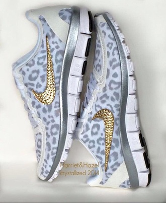 shoes nike running shoes lepoard print