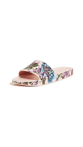 Melissa beach blue pink shoes