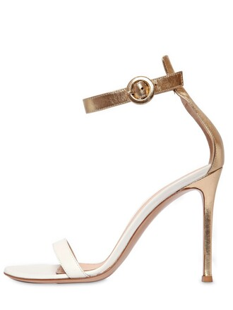 sandals leather sandals leather gold white shoes