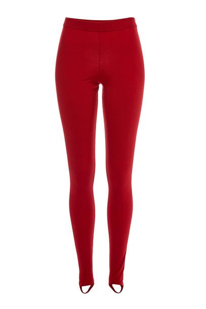 Joseph Merino Wool Stirrup Leggings  in red