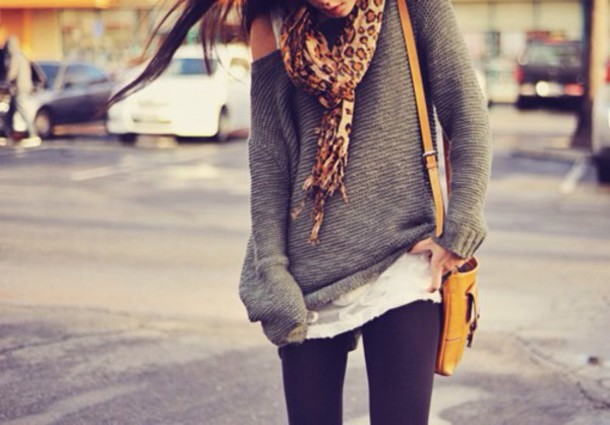 sweater scarf leggings