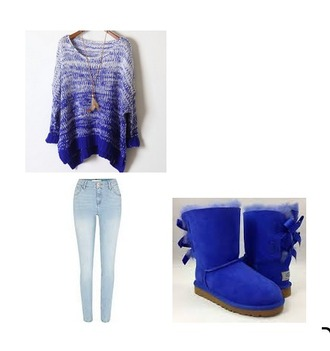 sweater ugg boots hollister jeans shoes