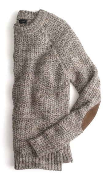 sweater elbow patch preppy fall sweater elbow patches jcrew cozy sweater grey grey sweater