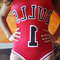 Red nba bulls bodycon swimsuit