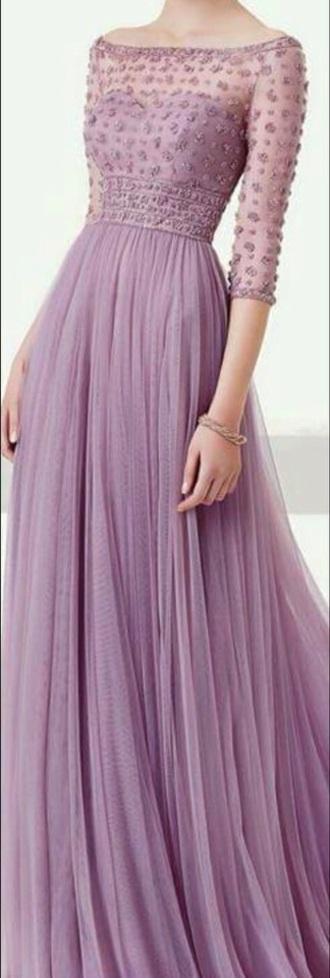 dress prom dress prom long prom dress purple dress