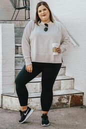 stylishsassy&classy,blogger,sweater,leggings,shoes,sunglasses,plus size